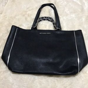 Silver and Black Michael Kors Handbag